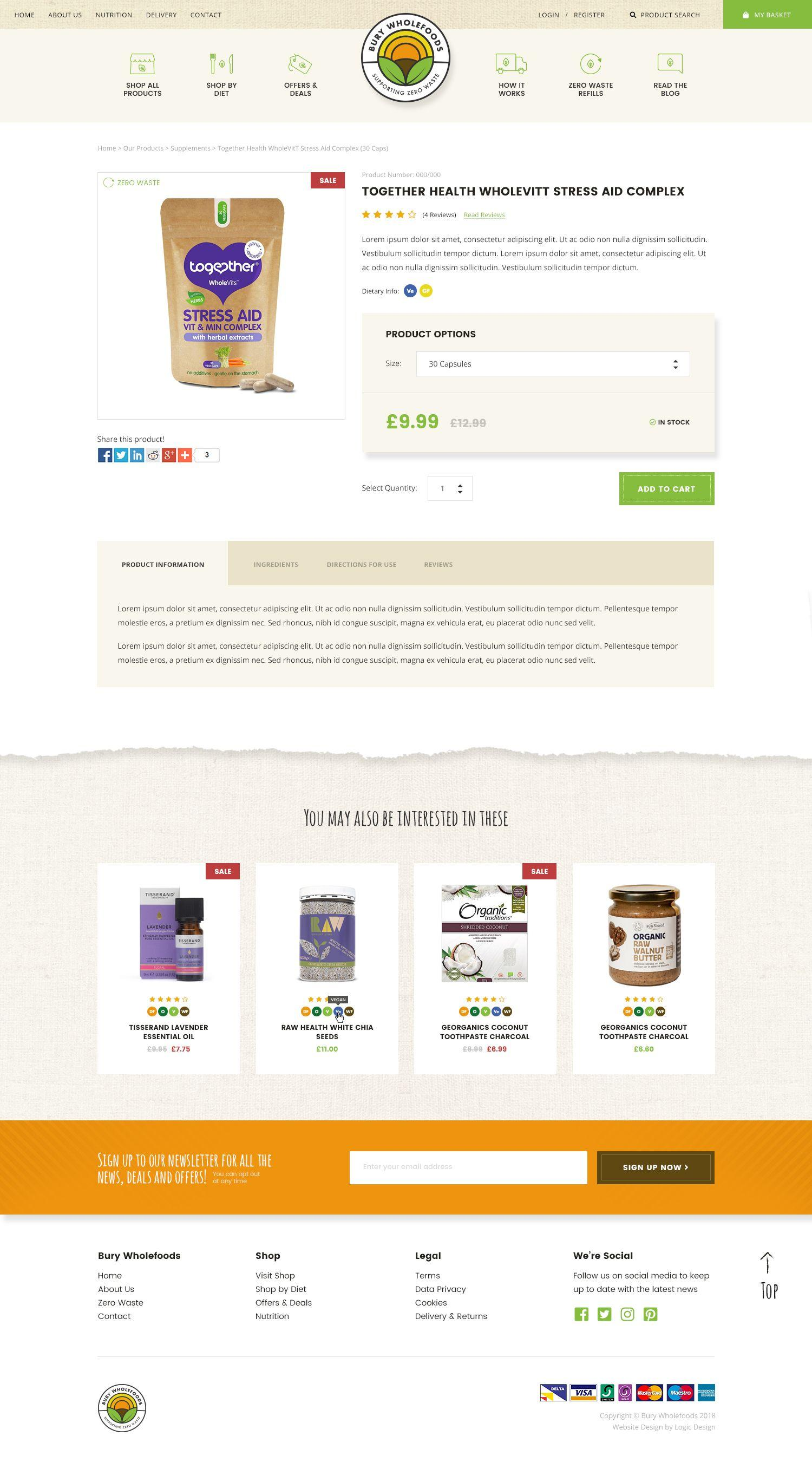 WooCommerce Website & Branding for local organic zero waste refill service