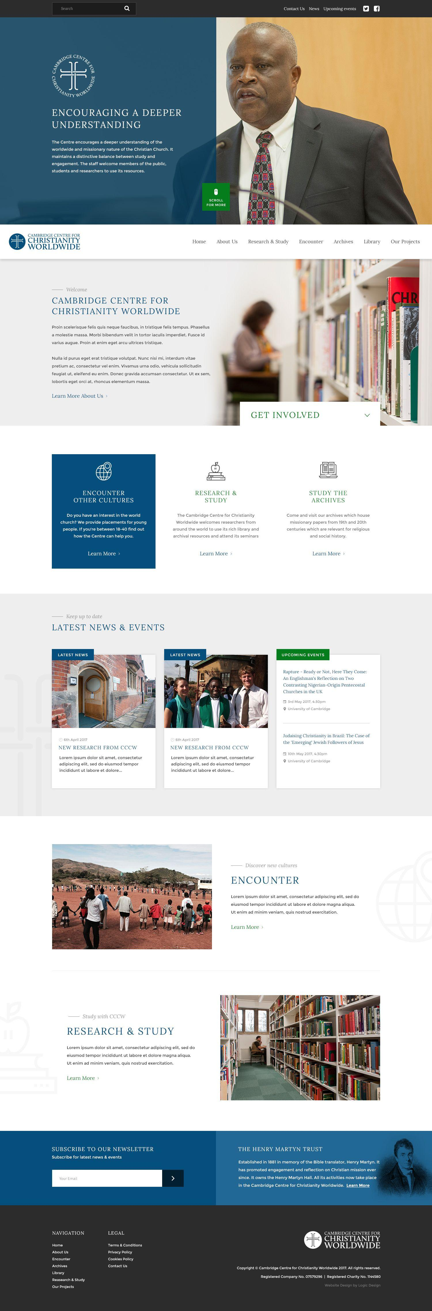 University Website Design for Cambridge university course