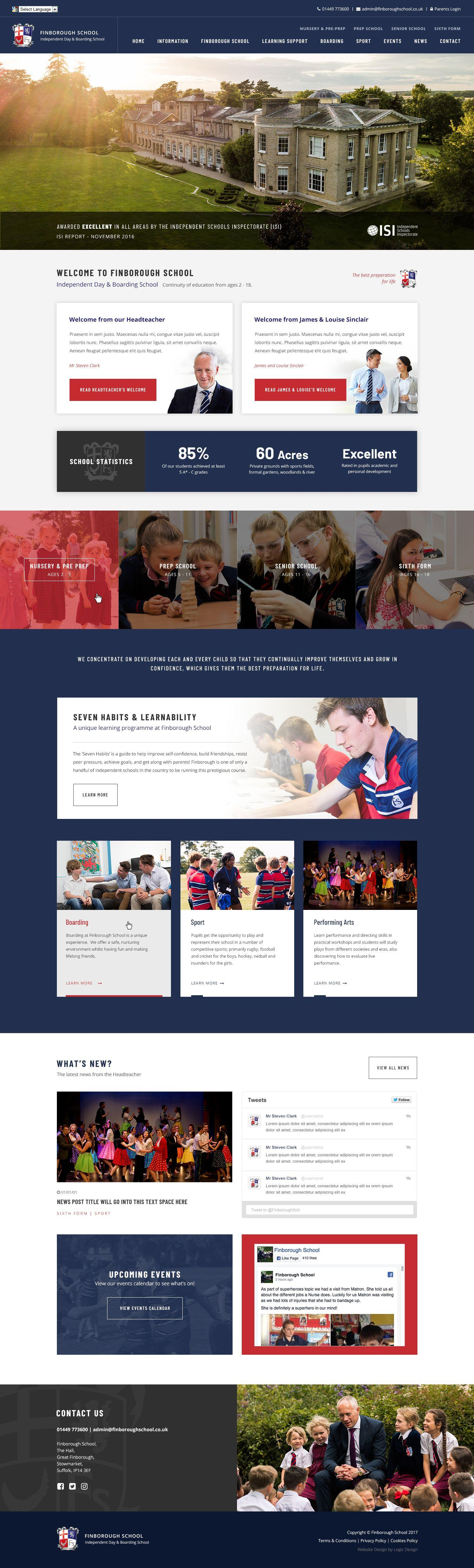 School Website Design for independent day & boarding school