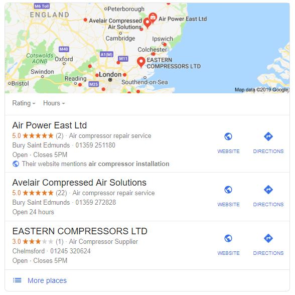 logic design seo - air compressor installers example - seo examples