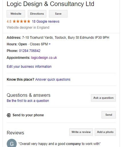 local seo - google mybusiness listing